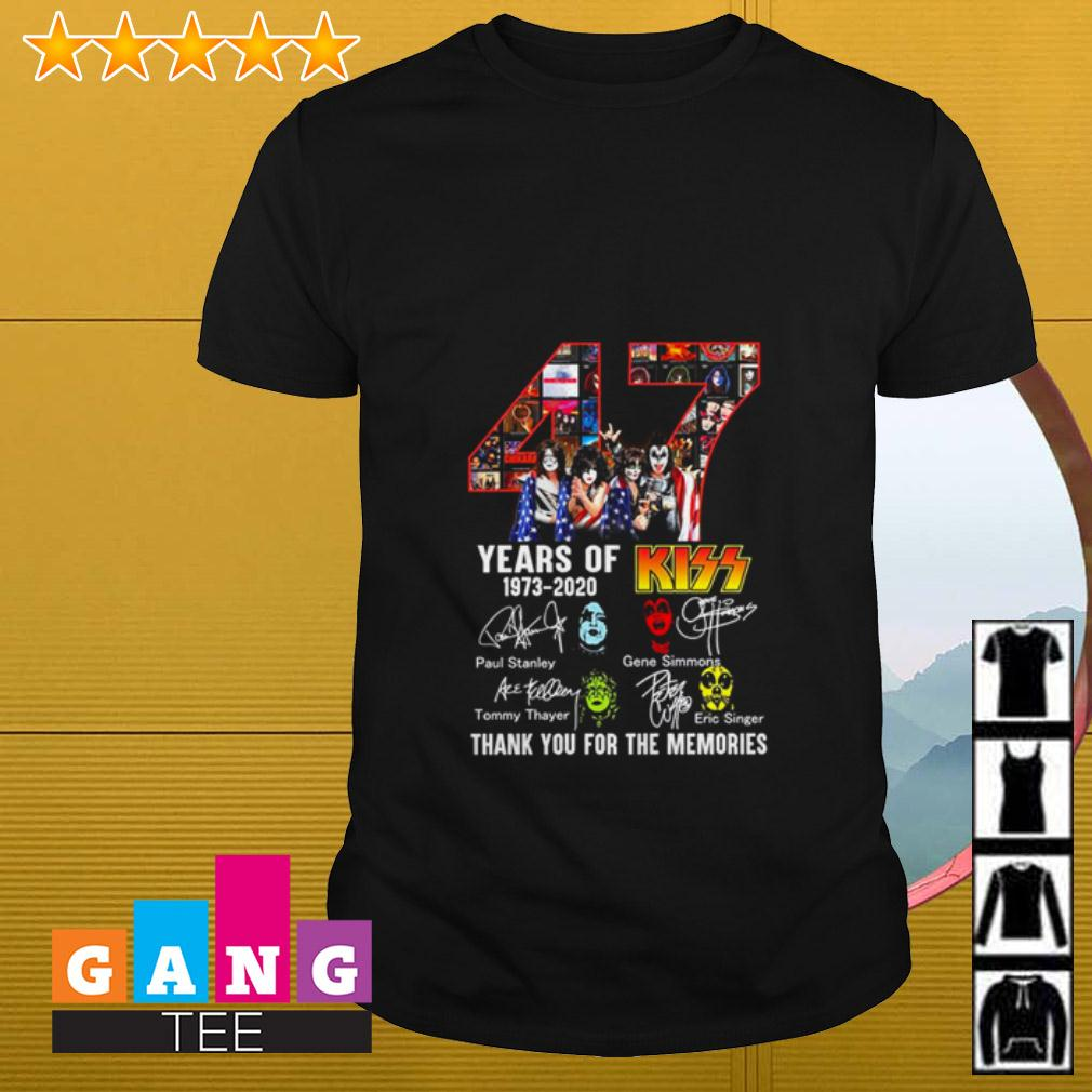 47 years of Kiss 1973 2020 thank you for the memories signature shirt