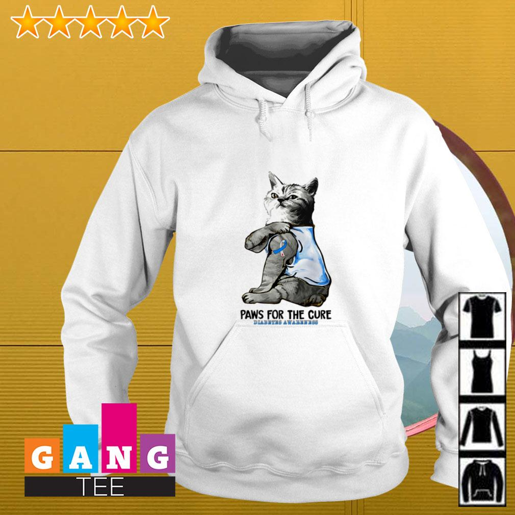 Cat paws for the cure diabetes awareness Hoodie