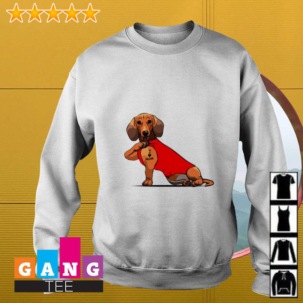 Dachshund I love mom Sweater