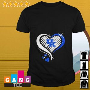 Glitter heart Kentucky Wildcats shirt