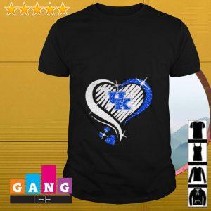 Glitter heart Kentucky Wildcats shirt