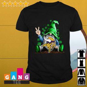 Gnome hug Minnesota Vikings Irish St. Patrick's day shirt