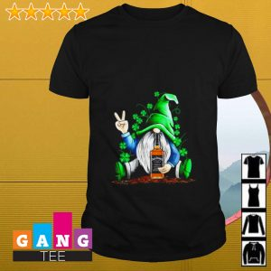 Gnome hugging Jack Daniel's Irish St. Patrick's day shirt