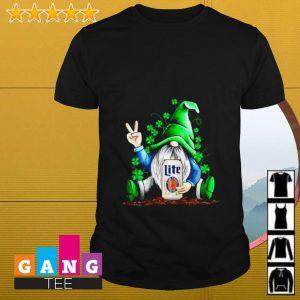Gnome hugging Miller Lite Irish St. Patrick's day shirt