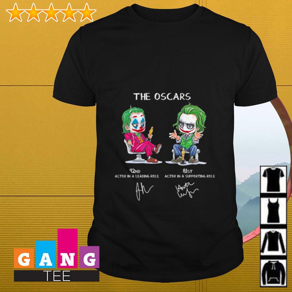Joker actor The Oscars 92nd 81st signature shirt