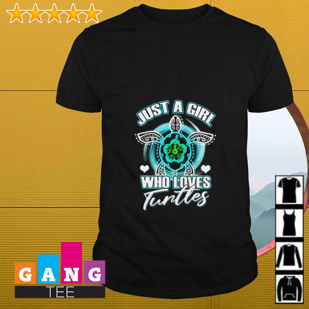 Just a girl who loves turtles St Patrick's Day shirt
