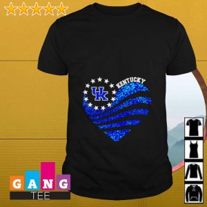 Kentucky Wildcats American flag heart shirt