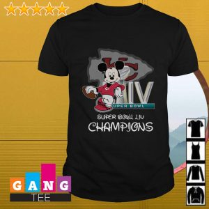 Mickey Mouse Super Bowl LIV Champions Kansas City Chiefs shirt