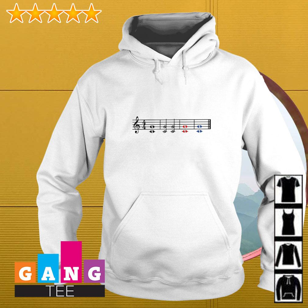 Music theory treble and bass clef Hoodie