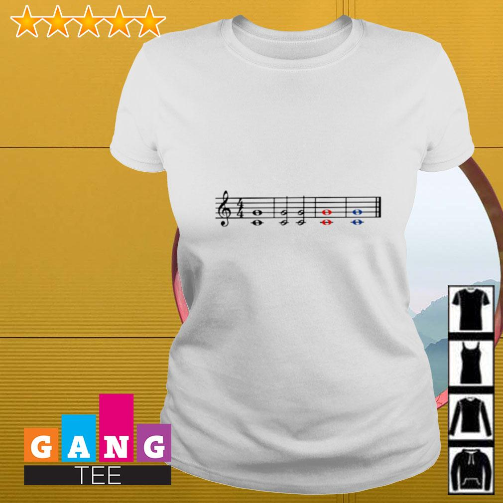 Music theory treble and bass clef Ladies tee