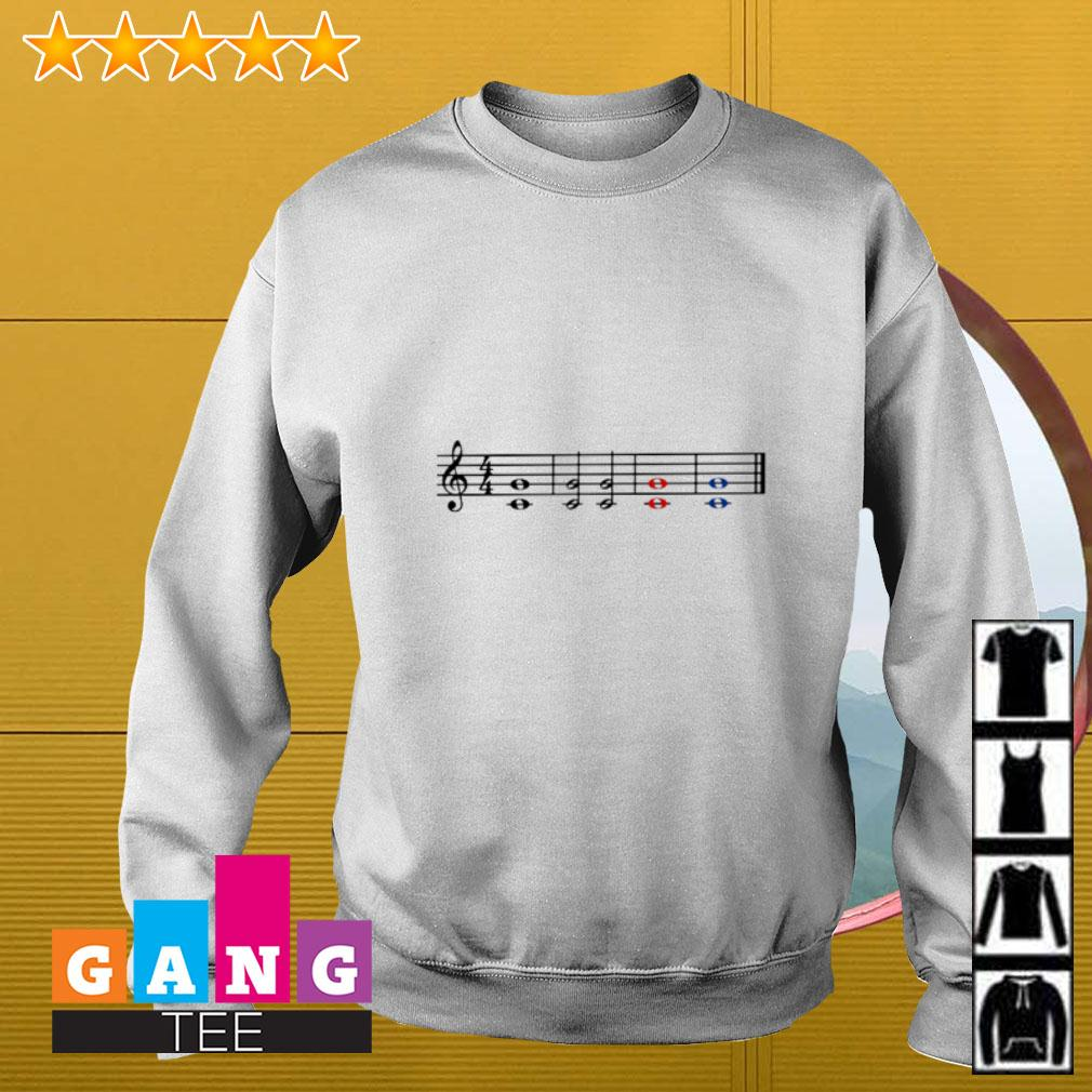 Music theory treble and bass clef Sweater