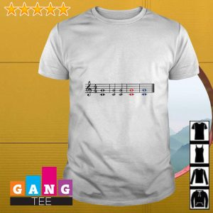 Music theory treble and bass clef shirt
