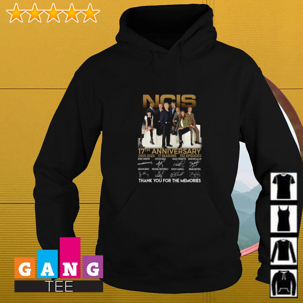 NCIS 17th Anniversary 2003 2020 thank you for the memories signature Hoodie