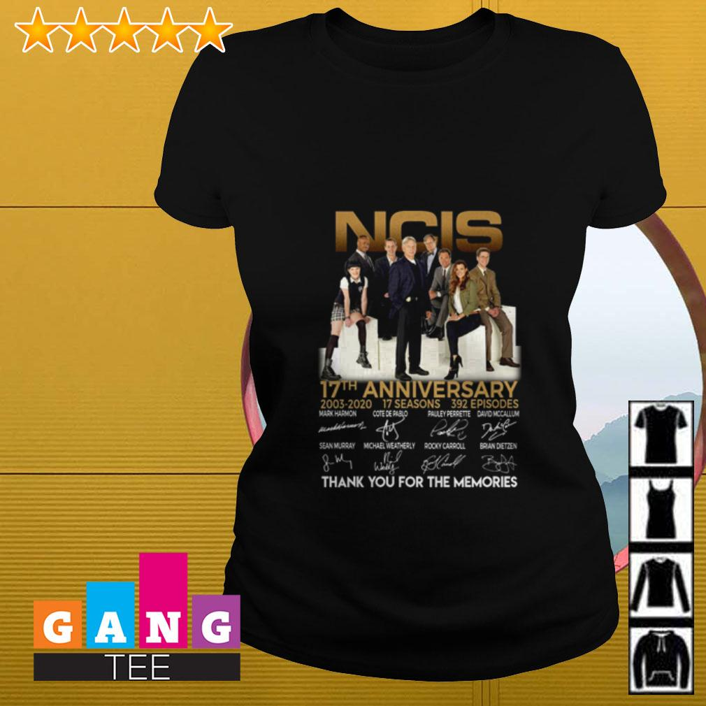 NCIS 17th Anniversary 2003 2020 thank you for the memories signature Ladies tee
