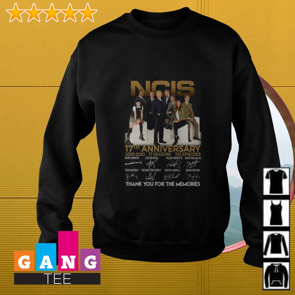 NCIS 17th Anniversary 2003 2020 thank you for the memories signature Sweater
