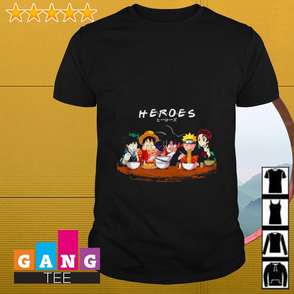 One Piece Heroes Friends TV show shirt