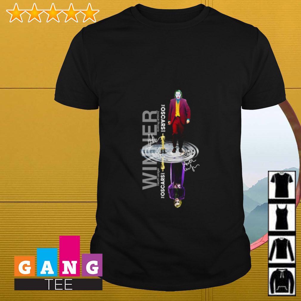 Oscars Joker water reflection winner shirt