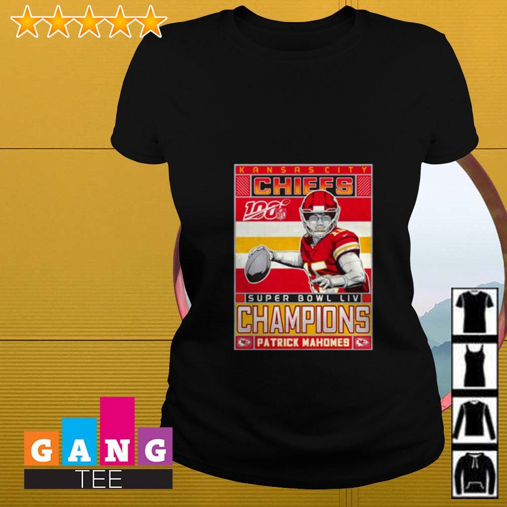 Patrick Mahomes Kansas City Chiefs Super Bowl LIV Champions Ladies tee