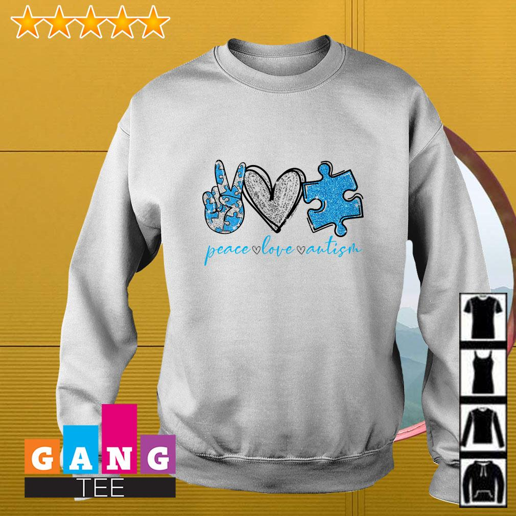 Peace Love Autism Awareness Sweater