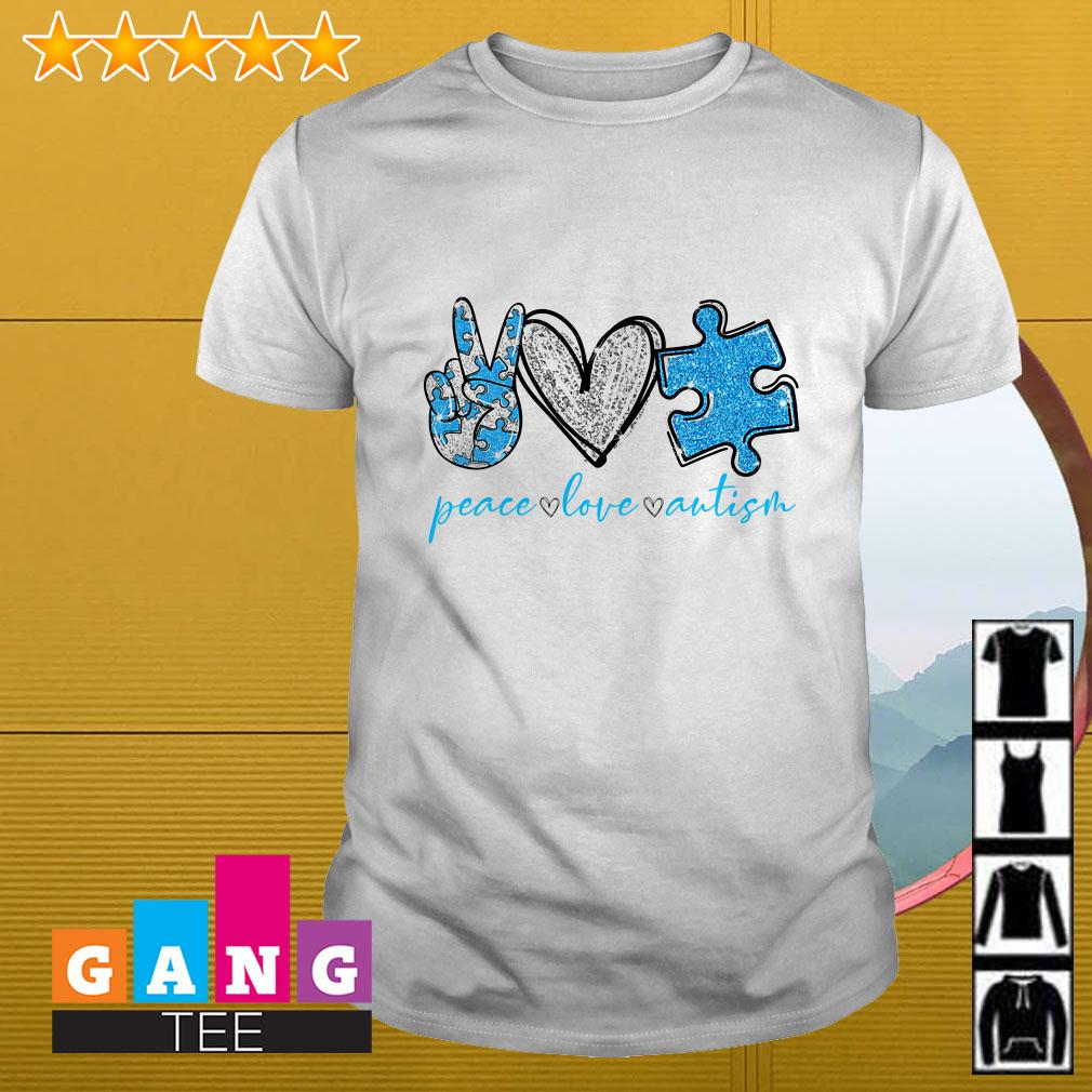 Peace Love Autism Awareness shirt