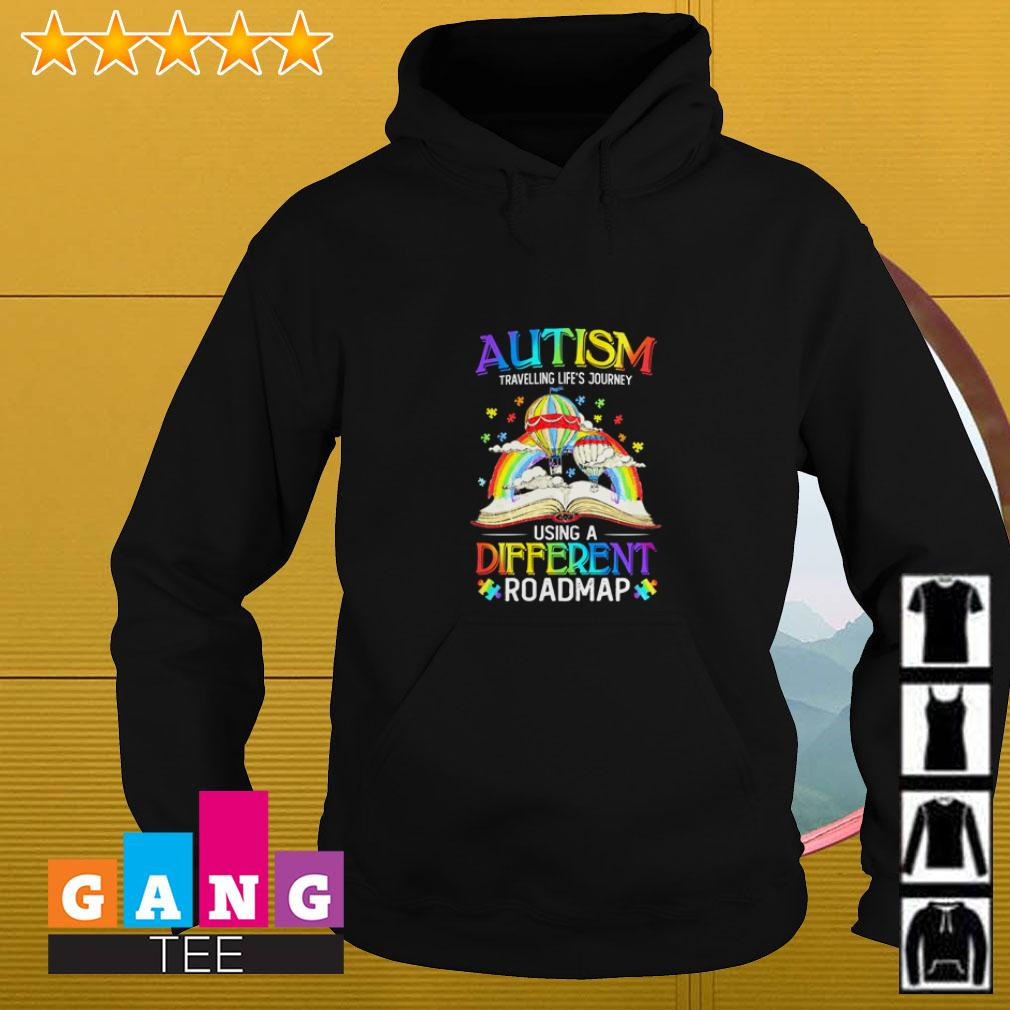 Autism travelling life's journey using a different roadmap Hoodie