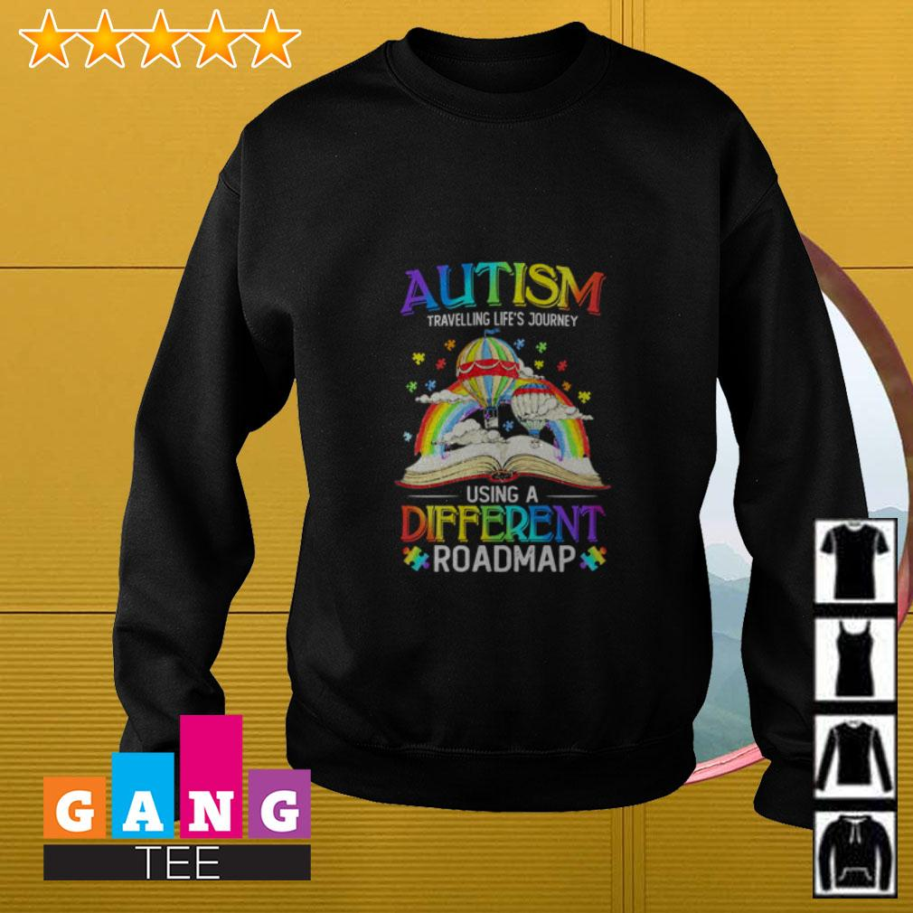 Autism travelling life's journey using a different roadmap Sweater