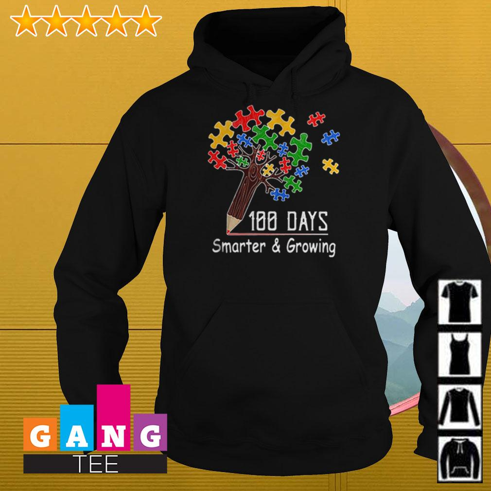 Autism tree pencil 100 days smarter and growing Hoodie