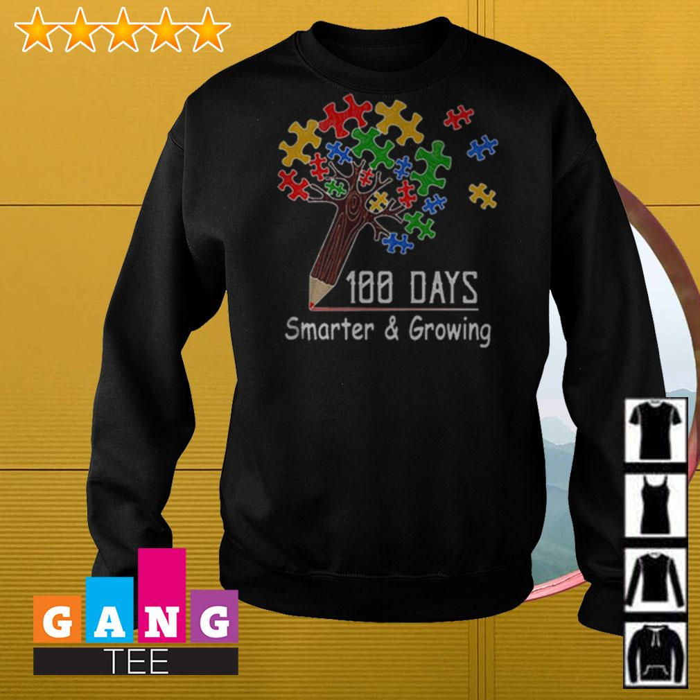 Autism tree pencil 100 days smarter and growing Sweater