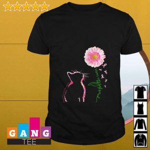 Breast cancer awareness Cat daisy paws for the cure shirt