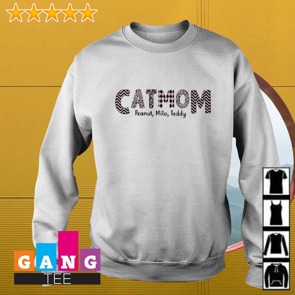 Cat mom slogan pattern milo teddy Sweater