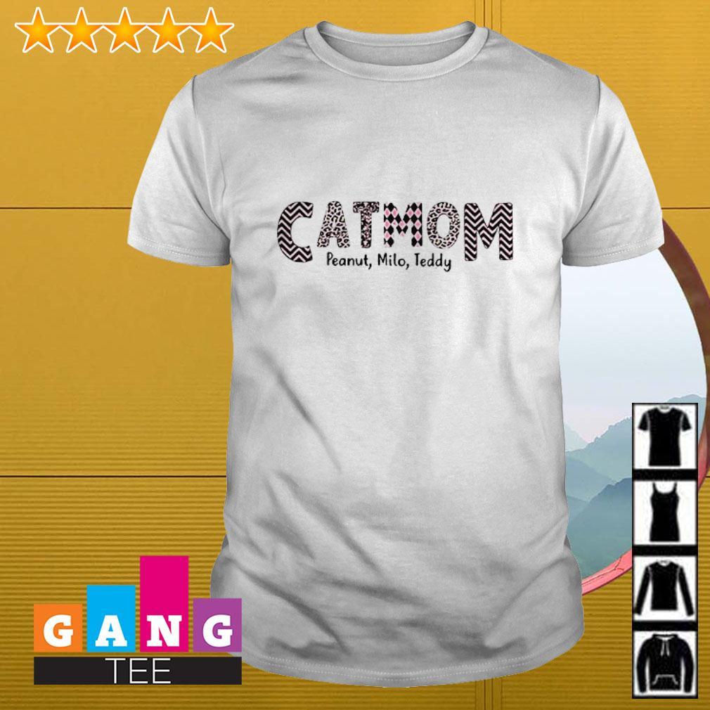 Cat mom slogan pattern milo teddy shirt