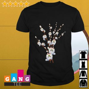 Cat white willows flower cute shirt