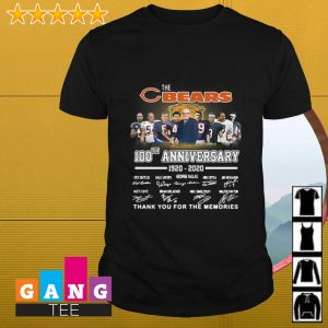 Chicago Bears the bears 100th anniversary 1920 2020 thank you for the memories shirt