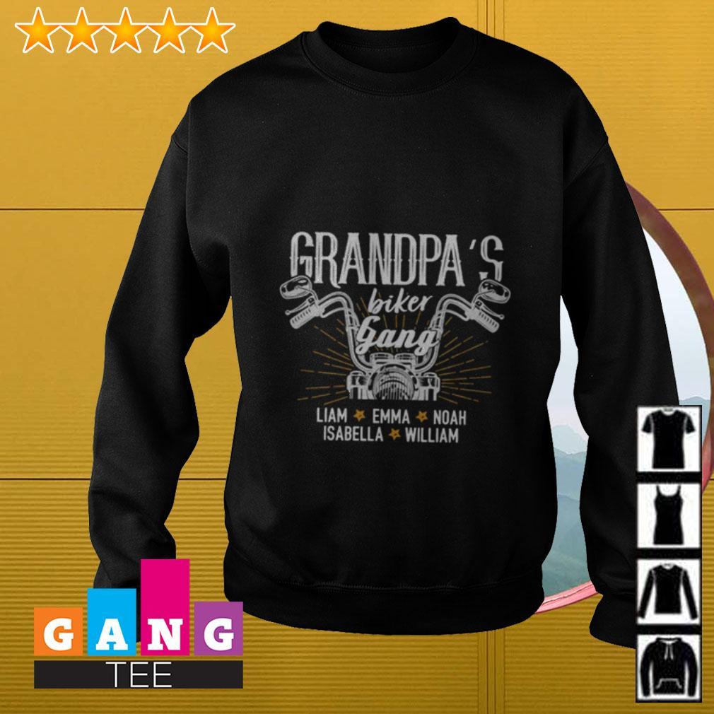Grandpa's biker gang Lliam Emma Noah Isabella William Sweater