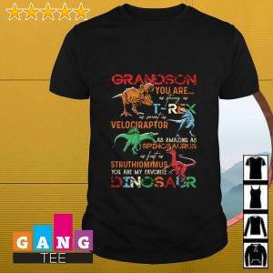 Grandson you are my favorite Dinosaur you are as strong as T-rex shirt