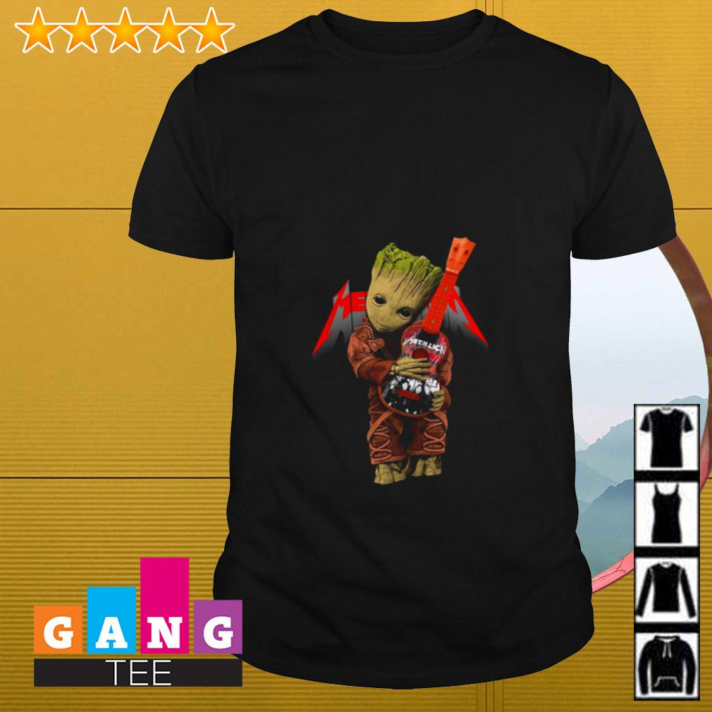 Groot hugging Metallica guitar shirt