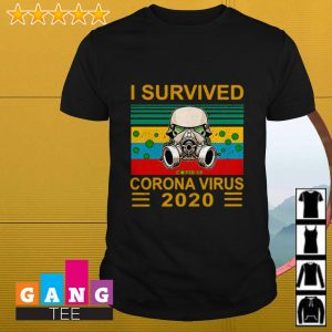 I survived Corona Virus 2020 Covid 19 sunset shirt