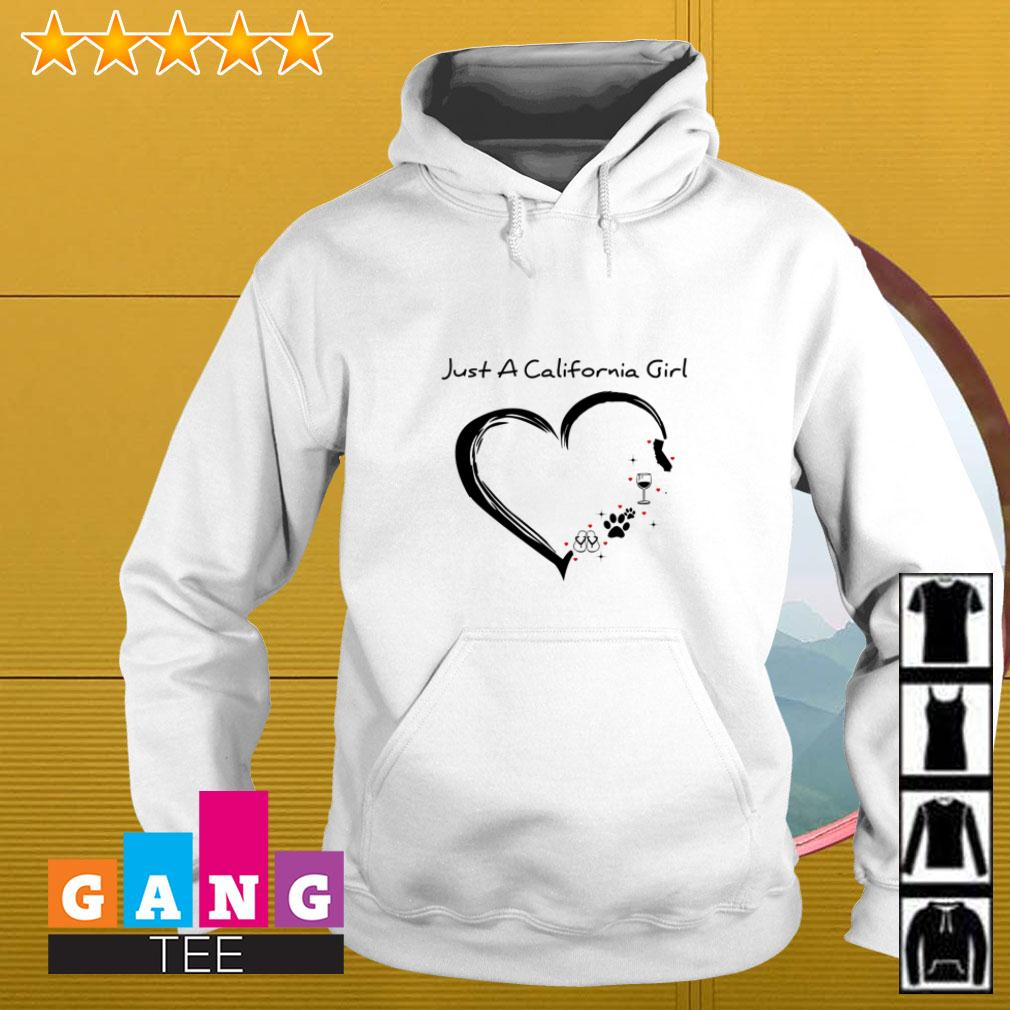 Just a California girl love flip flop dog wine and cat Hoodie
