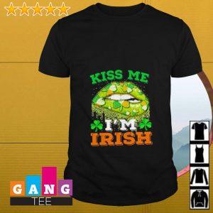 Lip kiss me I'm Irish St Patrick's Day shirt