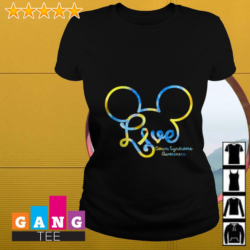 Mickey Disney love Down Syndrome awareness Ladies tee