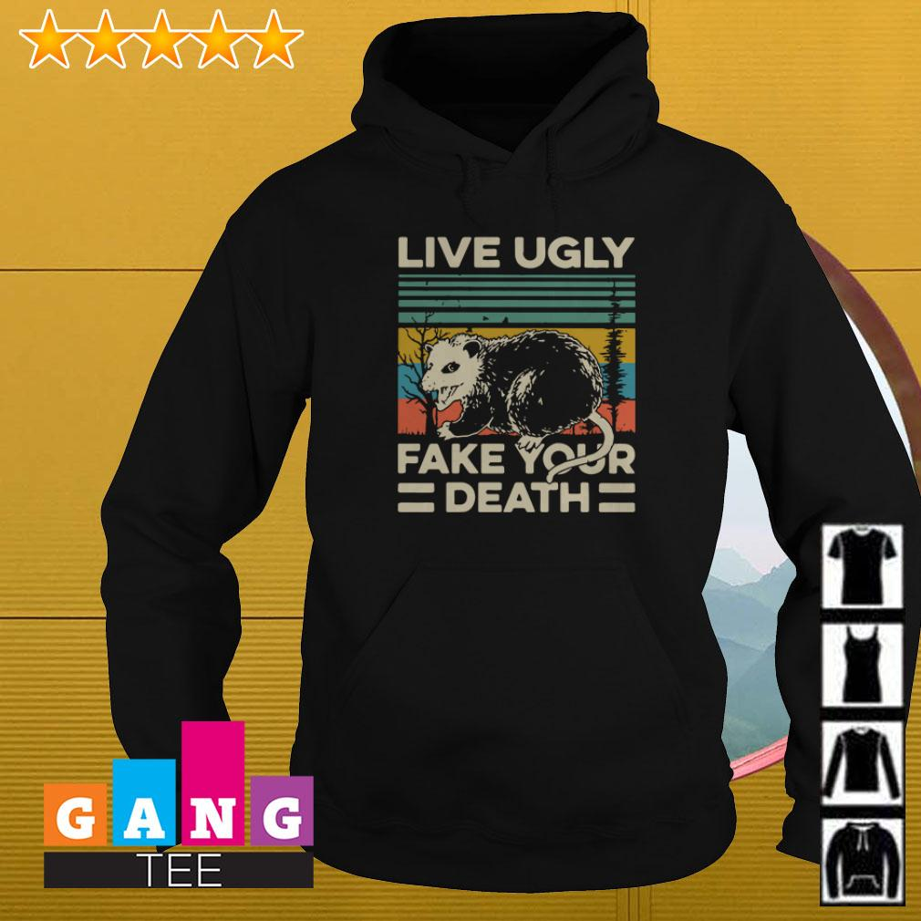 Opossum Live ugly fake your death vintage Hoodie