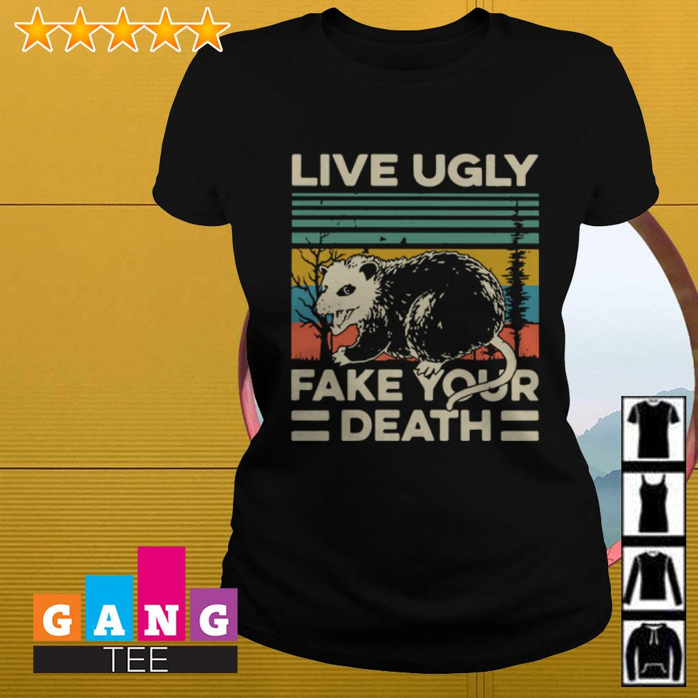 Opossum Live ugly fake your death vintage Ladies tee