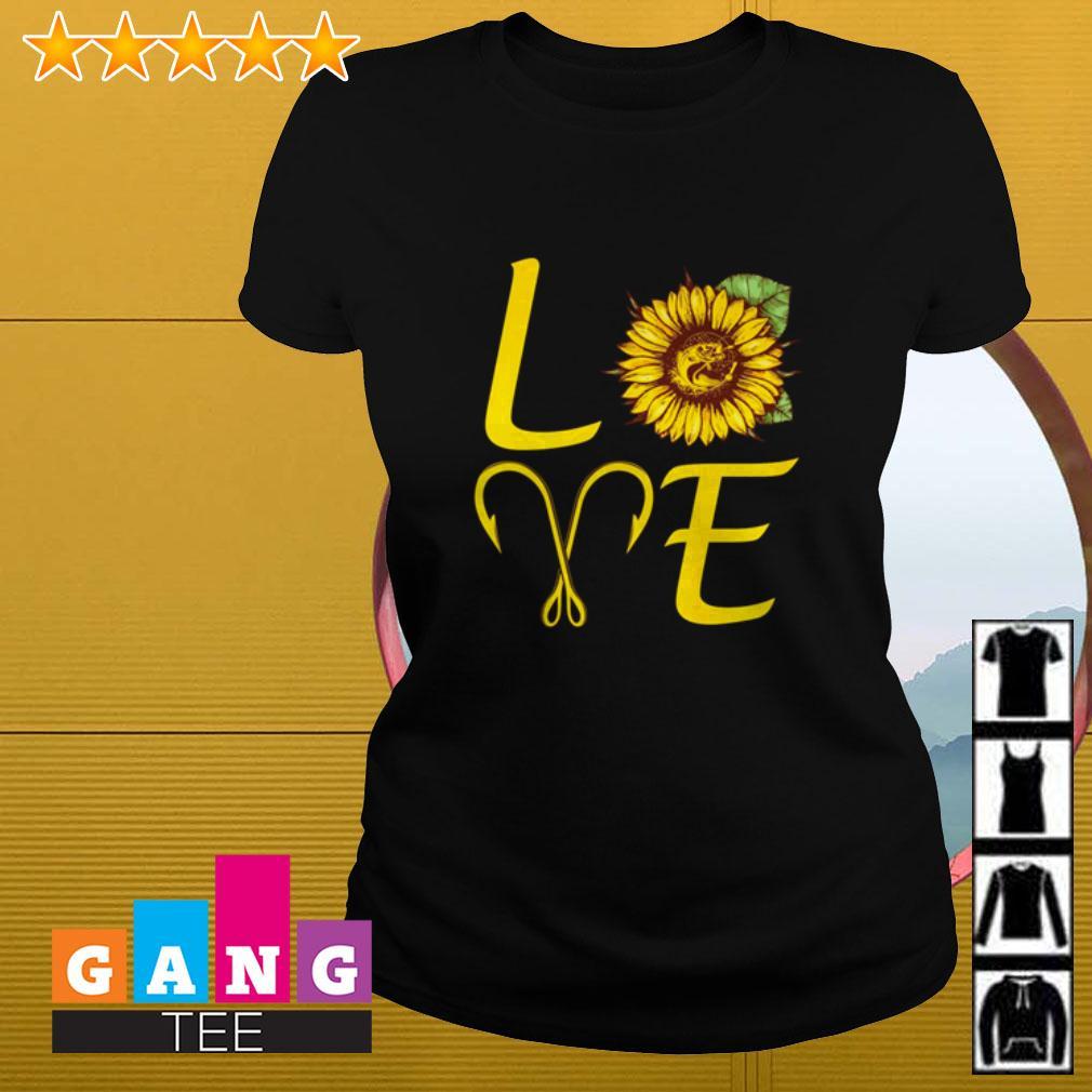 Sunflower love fishing Ladies tee