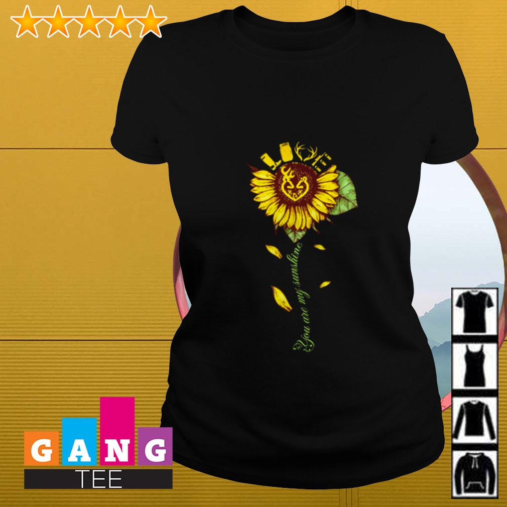 Sunflower love hunting you are my sunshine Ladies tee
