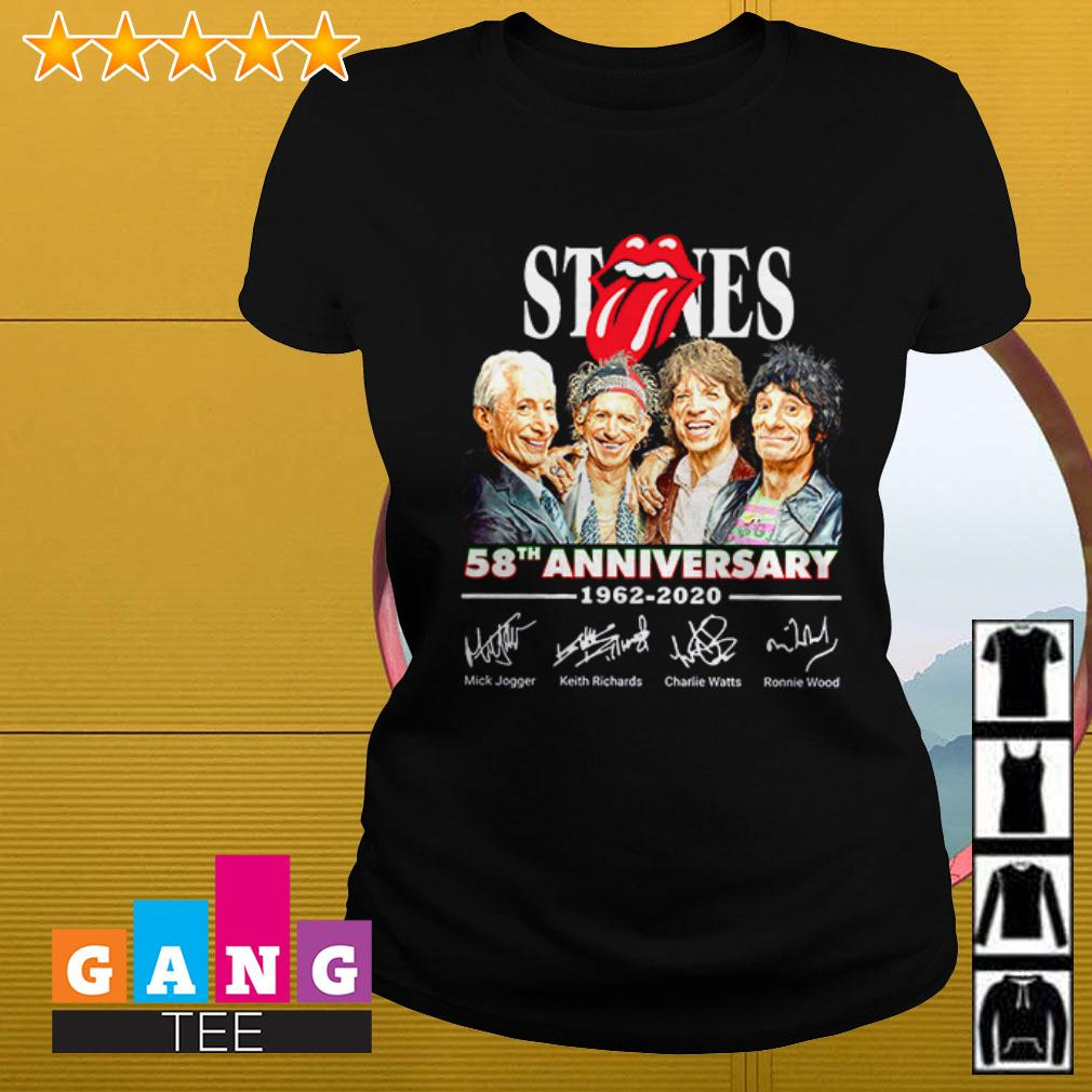 The Rolling Stones 58th anniversary 1962 – 2020 signatures Ladies tee
