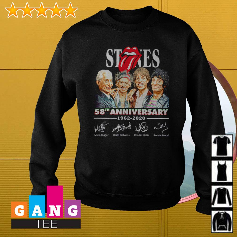 The Rolling Stones 58th anniversary 1962 – 2020 signatures Sweater