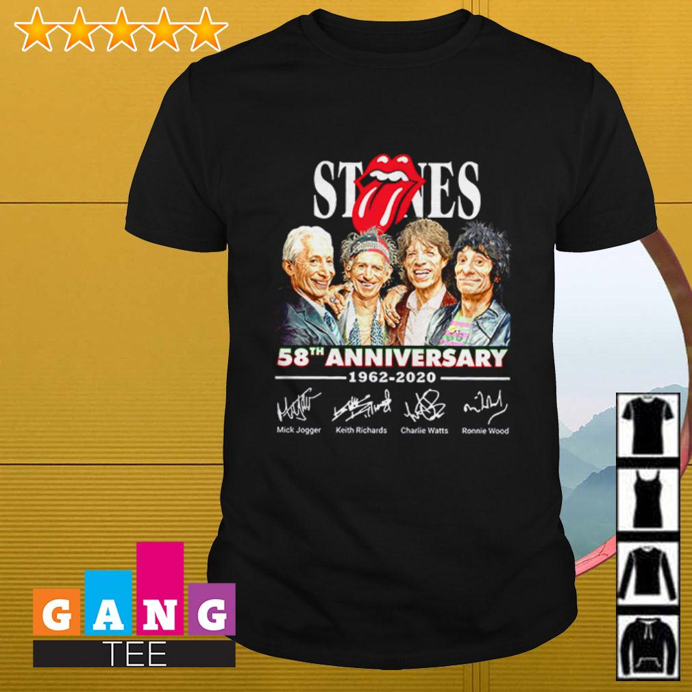 The Rolling Stones 58th anniversary 1962 – 2020 signatures shirt