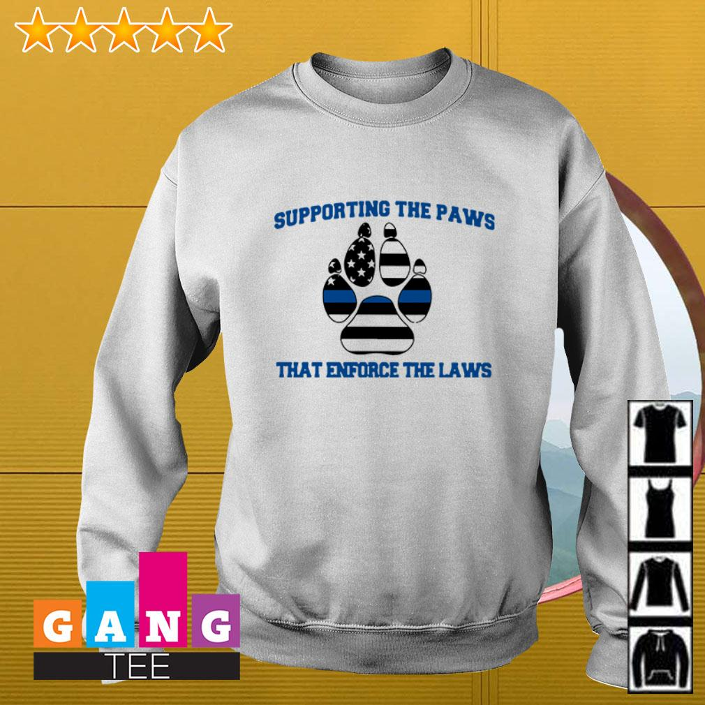 Thin Blue Line Supporting the paws that enforce the laws Sweater