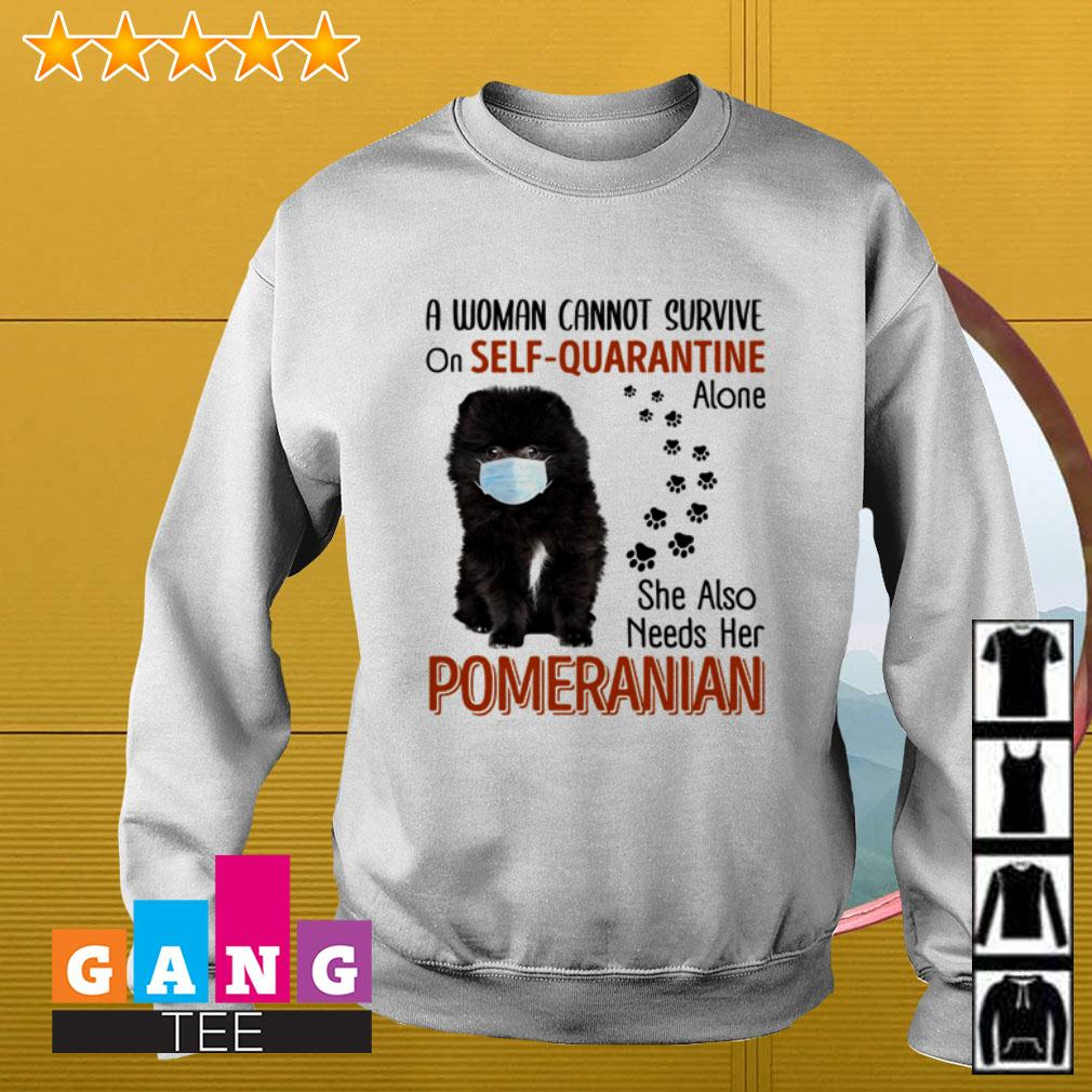 A woman cannot survive on self-quarantine alone she also needs her Pomeranian Sweater