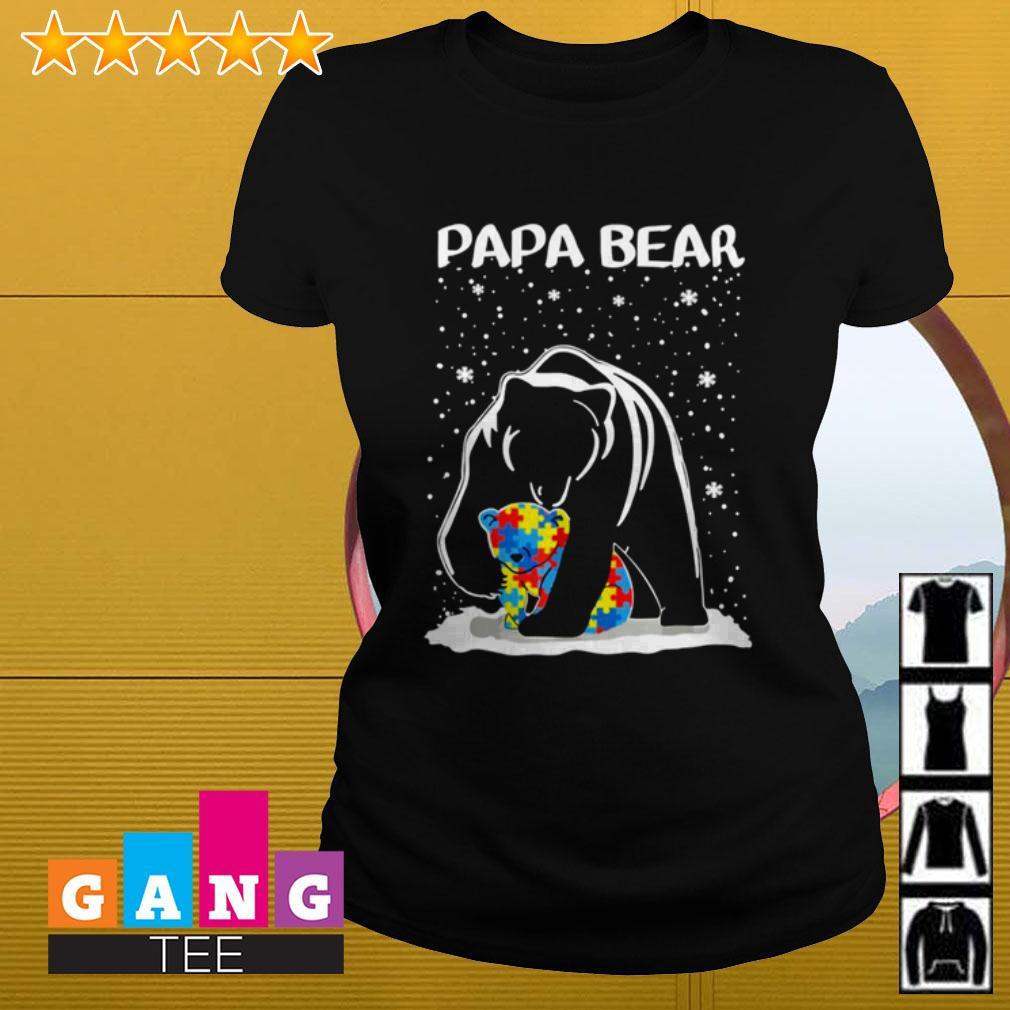 Autism Papa bear Ladies tee